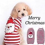 Yosoo Christmas Hoodie Pet Dog Sweater Winter Warm Coat Knit Coats Outwear Red