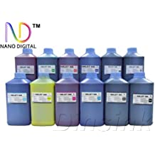 ND ™ Brand NANO digital Dinsink: 12 Quart (C/M/Y//BK/MK/LC/LM/GY/PGY/Red/Green/Blue) Pigment Refill ink kit for Canon Wide-format printer: imagePROGRAF iPF8000/9000/81400/9100 Printer with ND Logo