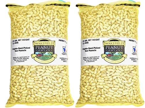 Blue Parrot Bird Animal - Virginia Peanuts Bulk Inshell Animal Peanuts for Squirrels, Birds, Deer, Pigs and a Wide Variety of Wildlife, 50 Lbs Total/Raw Peanuts/Bulk Nuts/Blue Jays/Cardinals/Woodpeckers/Parrots/Doves