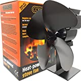 Stove Fan Silent Wood Burning Multi Fuel Better Efficiency 4 Blade Heat Powered Cosystove Save Money New 2019
