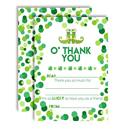 Wee Bit O' Fun St. Patrick's Day Themed Thank You Notes for Kids, Ten 4