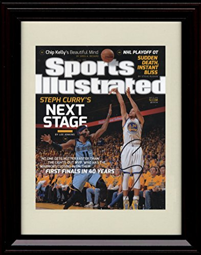 Framed Steph Curry Sports Illustrated Autograph Replica Print - Golden State Warriors
