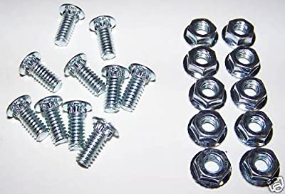 "10 - 1/4"" x 5/8"" TRACK BOLTS AND LOCK NUTS Garage Door Hardware Screw"