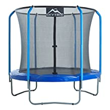 Upper Bounce UBSF2-8 Skytric Trampoline with Top Ring Enclosure System, 8-Feet