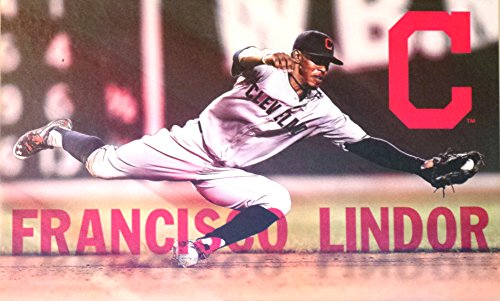 Francisco Lindor FATHEAD Cleveland Indians Official MLB Re-usable Vinyl Wall Graphic 22