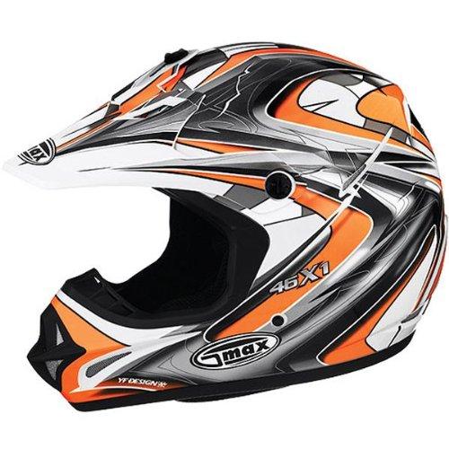 G-Max Visor for GM46X Helmet - KTM Orange - Lg-3XL -