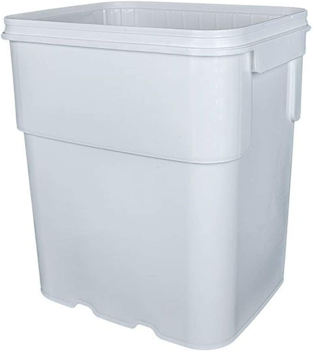 BayTec Containers 13 gal.Square Ez Stor Bucket Pail and lid, Recessed Handle and Lid