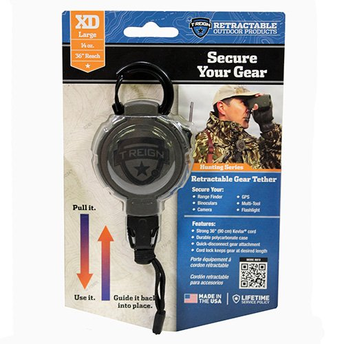T-Reign Outdoor Products 0TRG-241-EL Retractable Gear Tether Hunting, Extreme Duty, 14-36'', Small