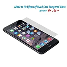 Lifeproof Nuud Tempered Glass Screen Protector For iPhone 6+ 6s+ plus Case nüüd - Gizmomix Inc