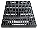 2 Feet x 4 Feet Heavy Duty Grate Panel for Pond and Water Garden Features and More – Hides Basins and Reservoirs – Holds Fountains, Rocks, Other Decorations – Will Not Rust – Black – Can Be Cut For Sale