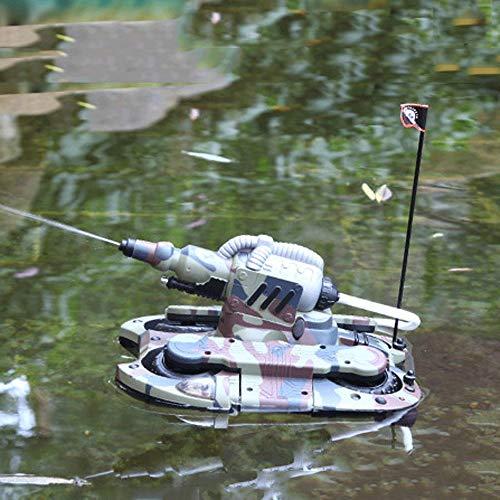 Mopoq Children's Remote Control Toy Remote Control Tank Ship Amphibious Tank Four-Wheel Drive Remote Control Car Remote Control Amphibious Dual-use