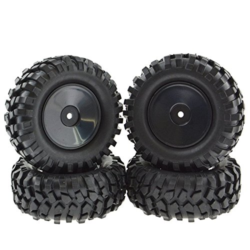 Rowiz 4PCS 1:10 RC Buggy Hex 12mm Concentric Circle Wheels Rubber Tires - Wheels Rc Buggy
