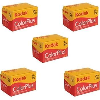 5 Rolls Of Kodak colorplus 200 asa 36 exposure Pack of 5