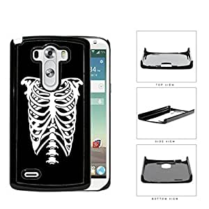 Rib Cage Skeleton Black And White Hard Plastic Snap On Cell Phone Case LG G3