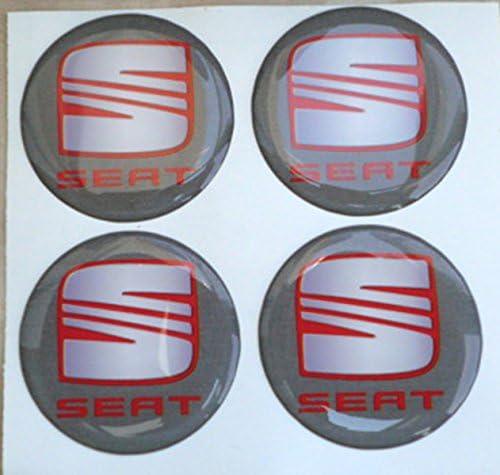 Adhesivos de resina tapacubos, color gris, de 60mm Pegatinas para tuning en 3D (4 unidades): Amazon.es: Coche y moto