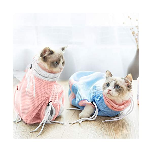 PETCUTE Cat Grooming Bag Cat Washing Bath Bag Mesh Bag for Cat Shower cat Restraint Bag Scratch-Resistant Click on image for further info. 7