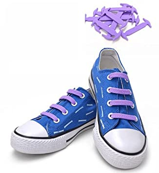 Sky Blue KoolLace Elastic silicon silicone shoelace No tying shoe lace
