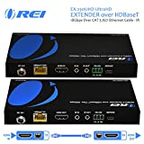 OREI UltraHD HDMI Extender 18G HDBaseT Over Single CAT5e/CAT6 Cable 4K @ 60Hz Upto 230FT With Dual IR Remote 1080P Upto 330 Ft - Power Over Cable - RS-232 - Zero Latency