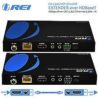 Orei EX-230UHD UltraHD Extender over HDBaseT 18Gbps Over CAT 5/6/7 Ethernet Cable - IR Signal - 230 Ft @ 1080P - 130 Ft @ 4K 60hz
