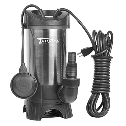 Trupow 1HP Submersible Stainless Steel Clean/Dirty Water Sump Transfer Pond Pump (Pump Steel Stainless Sump)