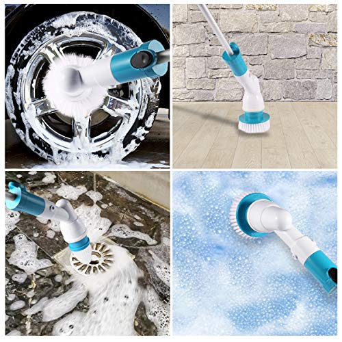 Spin Scrubber, 360 Cordless Tub and Tile Scrubber, Multi-Purpose Power Surface Cleaner with 3 Replaceable Cleaning Scrubber Brush Heads, 1 Extension Arm and Adapter by Fannel (Image #6)