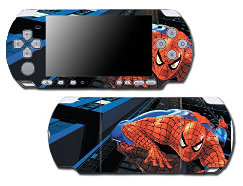 piderman 1 2 3 Cartoon Movie Video Game Vinyl Decal Skin Sticker Cover for Sony PSP Playstation Portable Slim 3000 Series System Protector ()