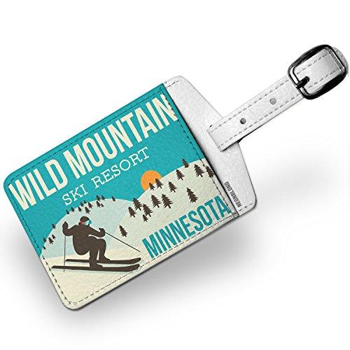 Luggage Tag Wild Mountain Ski Resort - Minnesota Ski Resort - NEONBLOND