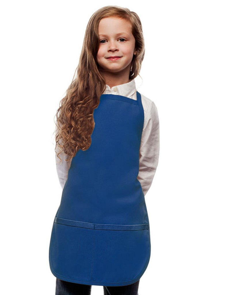 Royal Blue Toddler Art Smock, Apron, Regular, Poly/Cotton Twill Fabric