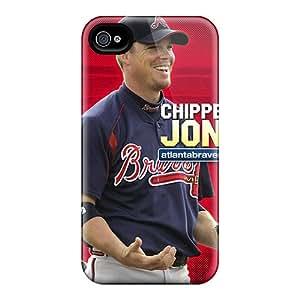 PhilHolmes Iphone 4/4s Shock-Absorbing Hard Phone Cover Allow Personal Design Beautiful Atlanta Braves Pictures [rAK2456eHms]
