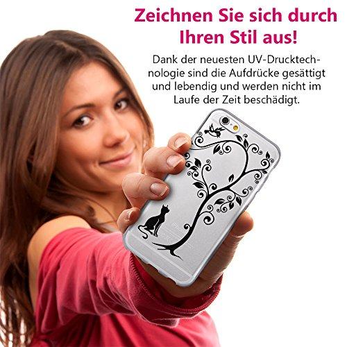 EGO® Double Touch Case + GRATIS Ladekabel Armband für iPhone 5 5S SE Motiv 3 Katze 360 ° Grad komplette TPU Silikon Hülle vorne hinten Beidseitiger Schutz Full Handy Tasche transparent Front Back dopp