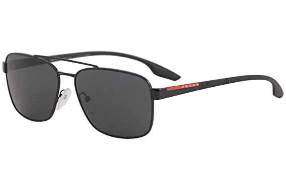 f83768104f8a Image Unavailable. Image not available for. Color: Prada LIFESTYLE PS51US  Sunglasses 1AB5S0-62 - Black Frame, Grey ...