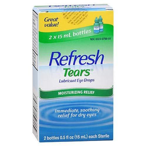 (Refresh Tears Lubricant Eye Drops, 2 Bottles 0.5 fl oz,15mL each Sterile,30mL (2 Pack))
