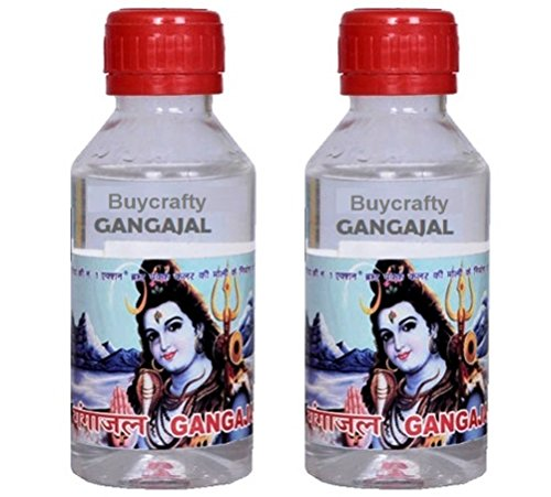 Buycrafty Pure Ganga Jal Gangajal Holy Water 100ml (Pack of 2) Positive energy religious ceremony