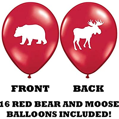 Gypsy Jade's Moose and Bear Balloons - Great for Little Lumberjack and Flannel Themed Parties! 32 Big 12