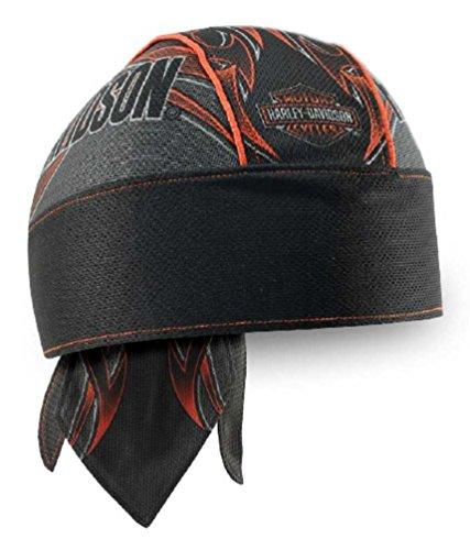 44f5e69d0 Harley-Davidson Men's Tribal Edge Piping Perforated Headwrap, Black HW29364