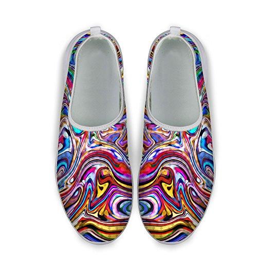 För U Designar Nya Mode Kvinnor Män Komfort Ventilerande Mesh Tillfällig Kör Promenadskor Färg 3