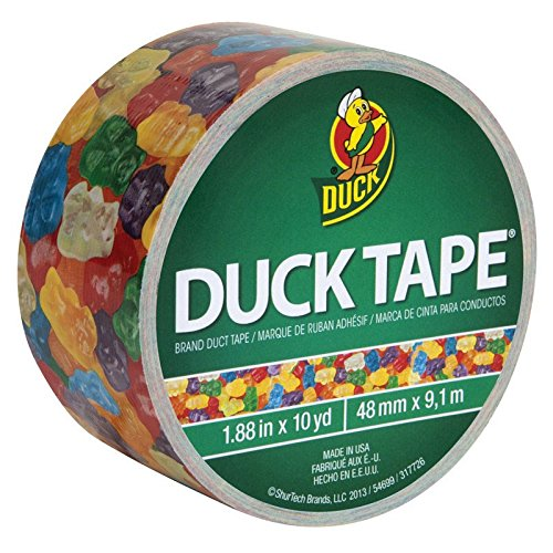 Duck Brand 282495 Printed Duct Tape, Gummy Bears, 1.88 Inches x 10 Yards, Single -