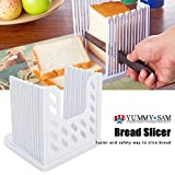 Bread slicer Yummy Sam® Foldable and Adjustable Bread Toast Slicer Bagel Slicer Loaf Sandwich Bread Slicer Toast Slice Cutter Mold with 4 Slice Thicknesses (white)
