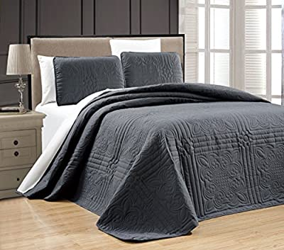 """Oversize """"Stella Grande"""" Bedspread Embossed Coverlet set Twin, Twin XL, Full, Queen, King and Cal King Bed Cover"""