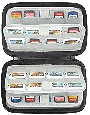 Sisma - Estuche de juegos, Funda universal para 72 juegos Nintendo Switch 3DS 2DS Sony Ps Vita y Tarjetas memoria SD microSD -negro SVG180901GC-B