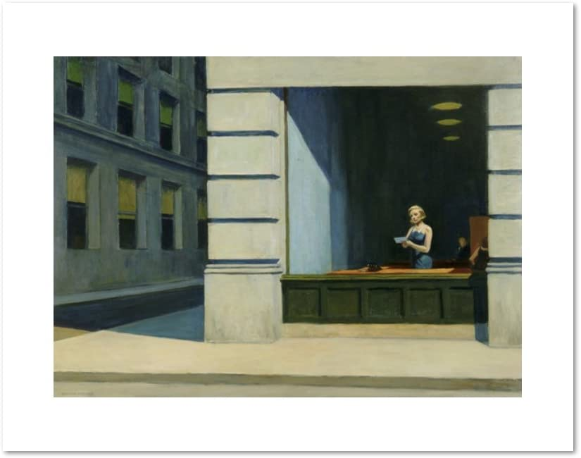 1000Museums New York Office by Edward Hopper, 1962. Art Print