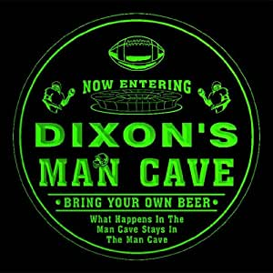 4x ccqa1139-g DIXON'S Man Cave Football Bar Beer 3D Etched Engraved Drink Coasters