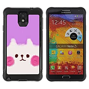 Paccase / Suave TPU GEL Caso Carcasa de Protección Funda para - Cute Puppy Pink White - Samsung Note 3