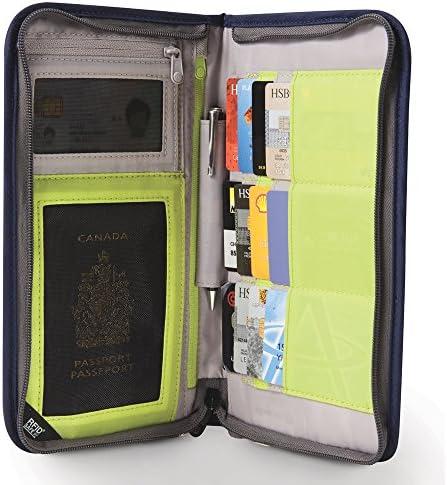 Pacsafe Rfidsafe V200 Anti Theft Rfid Blocking Travel Organizer, Navy Blue