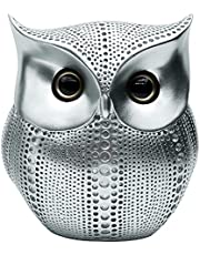 Owl Statue Home Decor, Cute Buho Owls Figurines for Unique Home Decorations, Living Room Decorations, Office Decor, Small Decor Items for Shelf, Bookself TV Stand Decor, Owl Gifts for Owl Lovers