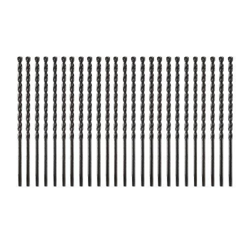 Bosch TC6025 25-Piece 3/16 In. x 5-1/2 In. Flat Shank Hex Masonry Drill Bits