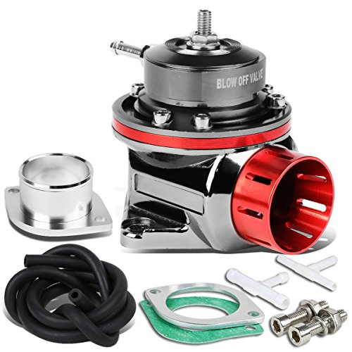 Type-FV 4 inches Adjustable Blow Off Valve (BOV) with 2 Bolts Aluminum Body Up To 30 PSI (Red)