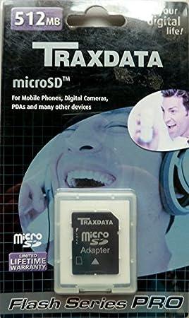 Tarjeta de Memoria Micro SD 512 MB Megabytes TRAXDATA ...