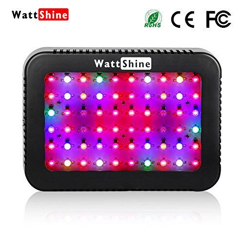 LED Grow Light Hydroponics System 300W Greenhouse Garden Indoor Plants Grow Lights16 Band Full Spectrum with UV&IR for Veg and Flower by Wattshine