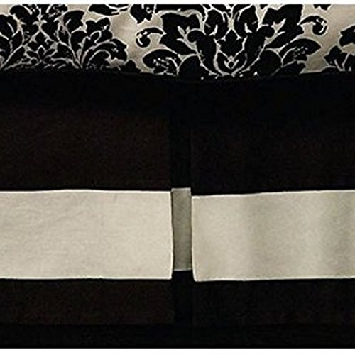 (Waterford Linens Lisette California King Bedskirt in Black / Cream)